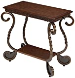 Product review for Ashley Furniture Signature Design - Rafferty Chairside End Table - Antique Finish with Metal Base - Rectangular - Dark Brown