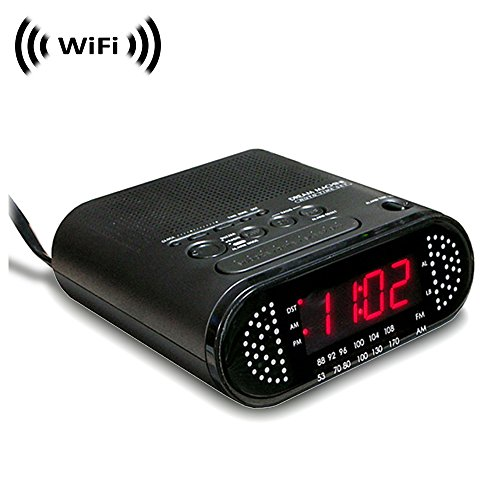 1080p IMX323 Sony Chip Super Low Light Spy Camera with WiFi Digital IP Signal, Recording & Remote Internet Access, Camera Hidden in Sony Dream Machine Clock Radio