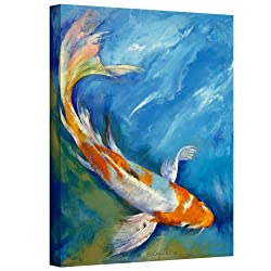 Art Wall Yamato Nishiki Koi Gallery Wrapped Canvas Art By Michael Creese, 32 By 24-inch