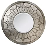 French Heritage Dune Mirror, Large, Silver Leaf Finish