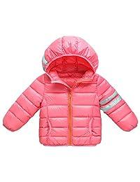 Baby Boys Girls Down Puffer Jackets Winter Hooded Coats Packable Lightweight Outwear