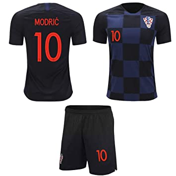 huge selection of 3e52e 2859d Croatia Modric #10 Soccer Jersey Youth World Cup Home Short Sleeve with  Shorts Kit Kids Soccer Set