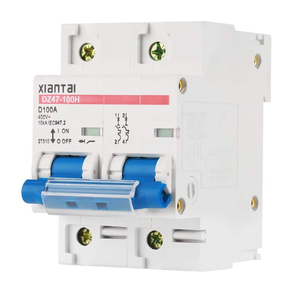 2P 100A 220V Interruptor de circuito de baja tensió n en miniatura para equipo elé ctrico Hilitand