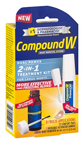 Compound W 2-in-1 Wart Removal Kit | Liquid Wart Remover | 8