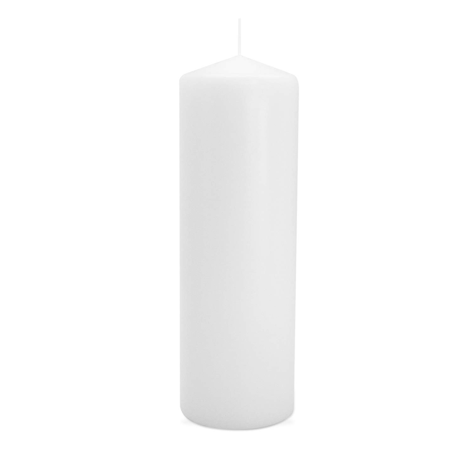 Royal Imports Pillar Candle for Wedding, Birthday, Holiday & Home Decoration, 3''x9'', White Wax, Set of 12