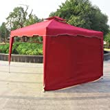 gazebo curtains with velcro Cloud Mountain 1 PC Wall Side Gazebo Wind and Sun Shade Privacy Panel Curtain Replacement, Burgundy (Only One Side Wall)