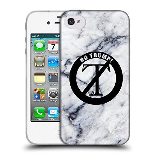 Super Galaxy Coque de Protection TPU Silicone Case pour // Q04140522 Aucun moyen Trump marbre // Apple iPhone 4 4S 4G