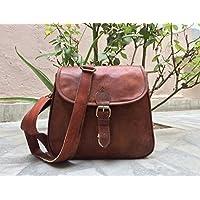 Pascado womens Leather crossbody shoulder satchel shoulder small soft purse bag 9x11 inch