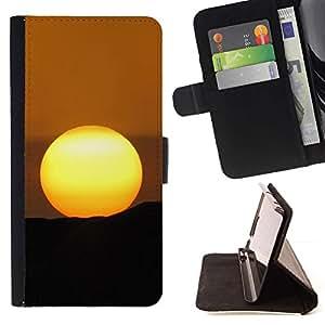 ForSamsung Galaxy S3 MINI i8190 (NOT S3) Case , Desert Sunset- la tarjeta de Crédito Slots PU Funda de cuero Monedero caso cubierta de piel