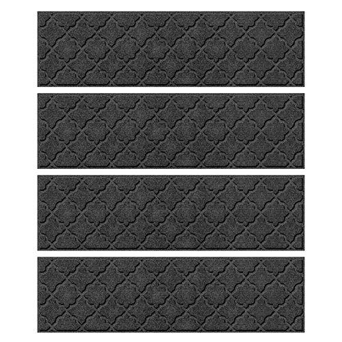 Bungalow Flooring Waterhog Indoor/Outdoor Stair Treads, Set of 4, 8-1/2
