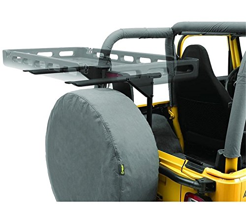 Rack Jeep Tire Spare (Bestop 41411-01 HighRock 4X4 Tailgate Rack Bracket for 1987-2006 Wrangler)