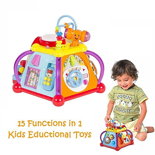 Play Baby Toy's Incredible Six Sided Activity Center For Babies And Toddlers -Non stop Activities For Developing All Five Senses, Baby Toy Center Fun Time Play time -