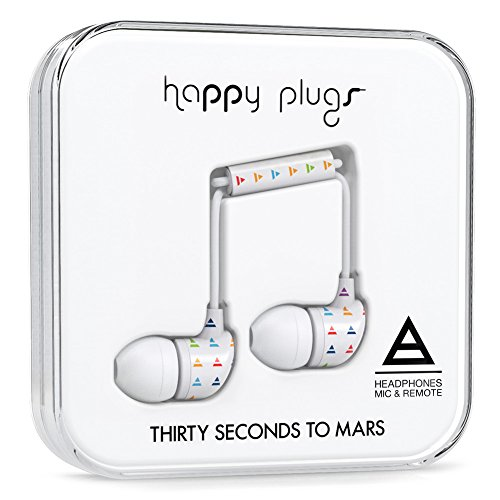 Controls Triad (Happy Plugs 7748 Triad by Thirty Seconds to Mars Headphone, White)