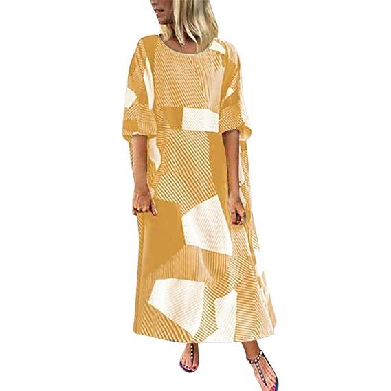 Vestido Mujer Largo Bohemian Estilo Ropa De Playa Otoño