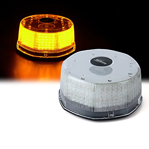 Xprite Amber 14 Modes16W 240-LED High Intensity Emergency Vehicle Strobe and Rotating Light Beacon with Magnetic Mounts -