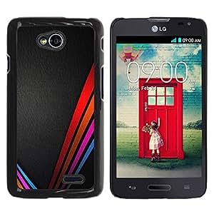 LASTONE PHONE CASE / Carcasa Funda Prima Delgada SLIM Casa Carcasa Funda Case Bandera Cover Armor Shell para LG Optimus L70 / LS620 / D325 / MS323 / Vibrant Colors Leather Black
