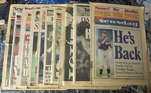 NEW YORK BASEBALL Newspaper Collection! 9 papers- Yankees, Mets, Strawberry