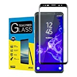For Galaxy S9 Plus Tempered Glass Screen Protector,maxdemo[High Definition][Bubble Free][Anti-fingerprint][Case Friendly]Tempered Glass Screen Protector for Samsung Galaxy S9 Plus(Black)