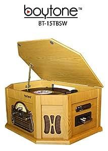 Amazon.com: 7-in-1 boytone bt-15tbsw Classic Turntable ...