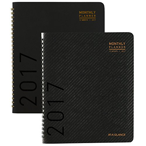 "AT-A-GLANCE Monthly Planner / Appointment Book 2017, 6-7/8 x 8-3/4"", Color Selected For You May Vary (70-120X-00)"