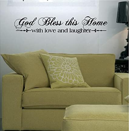 Amazon.com: God Bless This Home with Love and Laughter (M) Wall ...