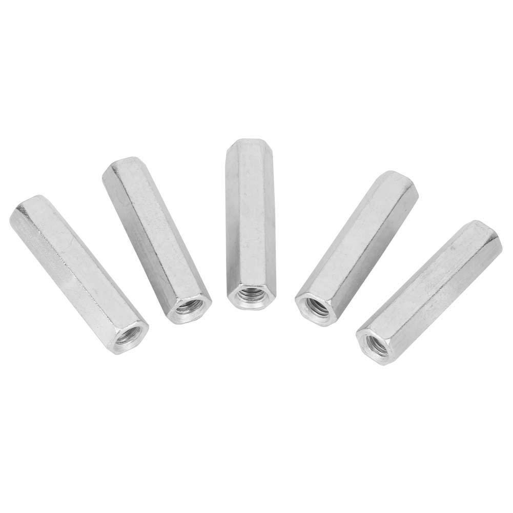 5Pcs M8 50 Long Rod Nut Hex Hexagonal Sleeve Nut Fastener Standoff Threaded Fasteners