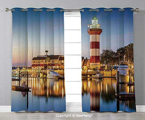 BeeMeng Design Printed Curtain Set of 2 Panels(120