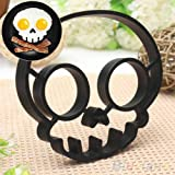 Skull Shaped Silicone Fried Egg Ring Mold Art Breakfast (Ships From USA)