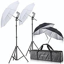 Neewer® Off Camera Double Speedlight Flash ShoeMount Swivel Soft Umbrella Kit for Canon 430EX II,580EX II,600EX-RT,Nikon SB600 SB800 SB900,Yongnuo YN 560,YN 565,Neewer TT560,TT680,TT850,TT860