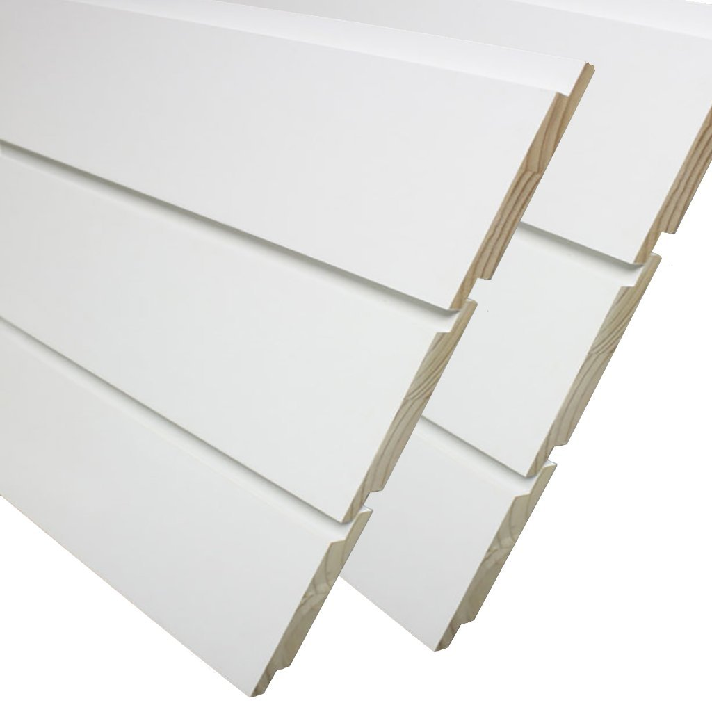 Primed Pine Nickel Gap Ship Lap Board (6-Pieces Per Box) 3/4 in. x 7-1/4 in. x 8 ft. by Kimberly Bay