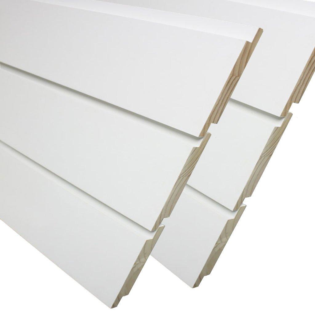 3/4 in. x 7-1/4 in. x 8 ft. Primed Pine Nickel Gap Ship Lap Board (6-Pieces Per Box)