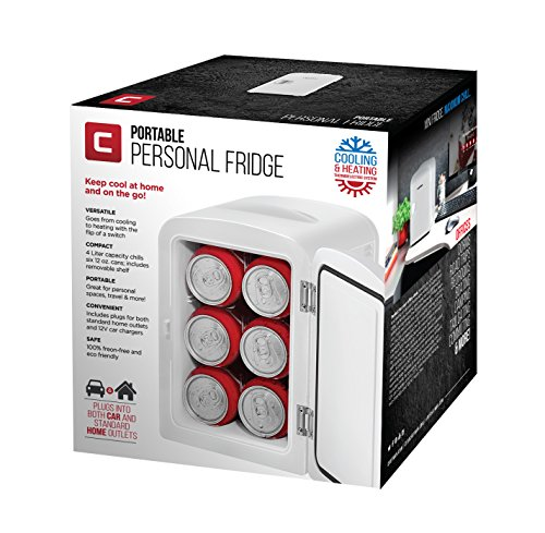 Chefman Portable Compact Personal Fridge Cools & Heats, 4 Liter Capacity Chills Six 12 oz Cans, 100% Freon-Free & Eco Friendly, Includes Plugs for Home Outlet & 12V Car Charger - White by Chefman (Image #6)