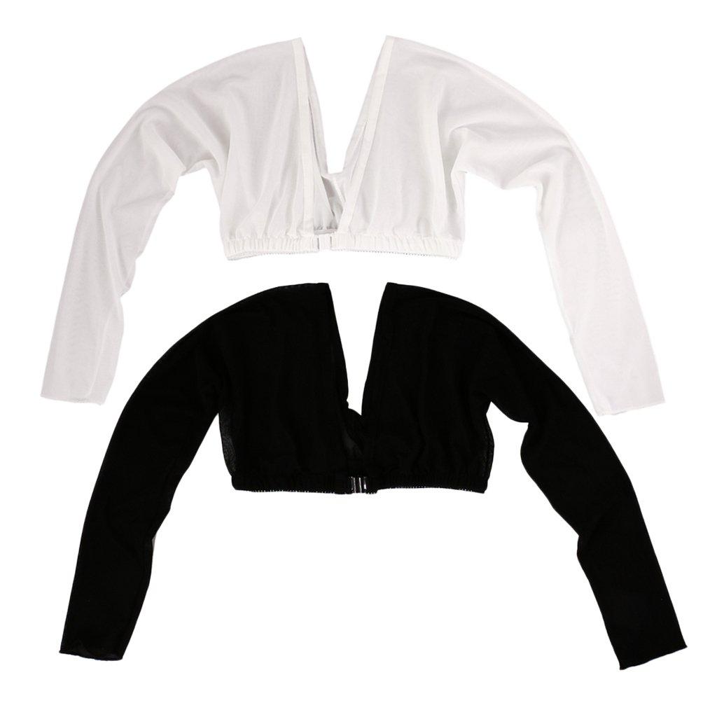 Homyl 2 Pcs Shoulder Control Arm Slimmer Shapewear Shaper Belt Long Sleeves Slim Armwear
