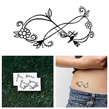 Tatuaje Temporal Tattify - Flor Infinito - Floreciendo (Juego de 2 ...