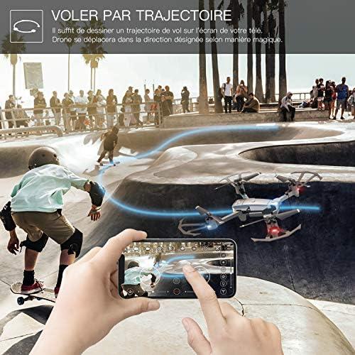 SNAPTAIN A15 Drone Pliable avec Caméra HD 720P 120° Grand Angle WiFi FPV avec Vol de Trajectoire, 3D VR, Mode sans Tête, 360°Flips et Maintien de l'altitude Maniable pour Les Débutants et Les Enfants