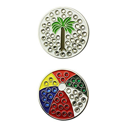 PINMEI Crystal Golf Ball Marker, Fit in Hat Clip or Divot Tool with Magnet