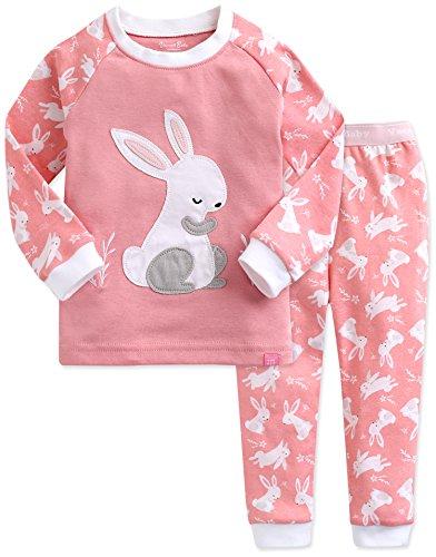 Vaenait Baby Kids Girls 100% Cotton Sleepwear Pajamas 2pcs Set Heeling Rabbit M (Vietnam Tea Set)