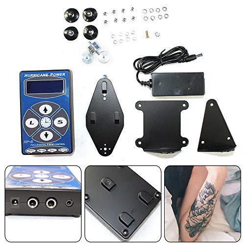 (Tattoo Power Supply, LCD Digital Tattoo Power Supply Set for Professional Hurricane HP-2 Tattoo Machine Setting (USA STOCK))
