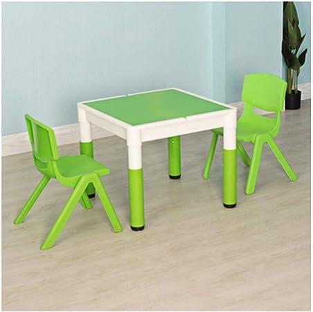 Mesa de estudio de los niños Niño mesas sillas de jardín de infancia echó a un