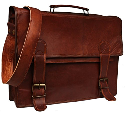 "Fairkraft 43,18 cm (17"") uomo-Borsa a tracolla, borsa per Macbook 17 x 30,48 x 12,70 (12"") x 5 cm, colore: marrone"
