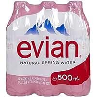 Evian Natural Spring Water, 16.9 oz, 6 pk