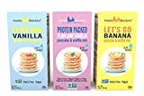 Plant-Based Pancake and Waffle Mix Variety Pack – Dairy-Free, Vegan Complete Mixes, Just Add Water – Pack of 3 Boxes (1 of Each – Protein-Packed Vanilla, Plain Jane Vanilla, Banana) 16 oz Each Review