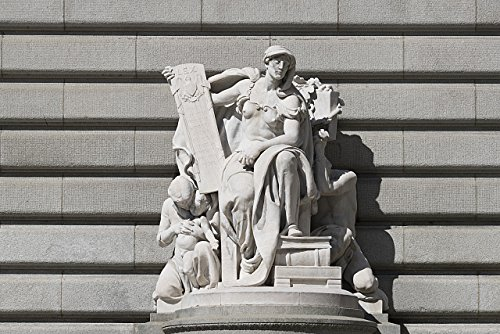 Part R40 - 24 x 36 Giclee Print of Sculpture That is Part of The Cleveland Public Library's Main Building in Cleveland Ohio r40 42647 by Highsmith, Carol M.