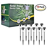 Solar Garden Lights Outdoor Waterproof 10 Pack Walkway Pathway Garden Lights Solar Powered Stake Solar Lights Garden Outdoor (10-pack white solar light)
