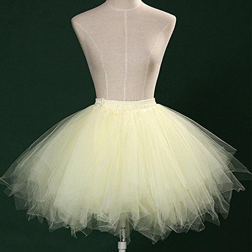 Tul Fiesta Amarillo Cortas Ballet Mujeres Plisada Tutu Enaguas Onechance Suave Faldas xIYqZ
