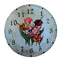 Ashton Sutton C3300 Wall Clock with Tulip Dial