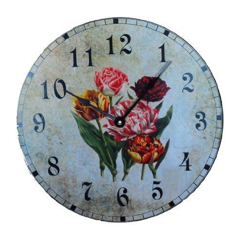 Ashton Sutton Outdoor Clock - Ashton Sutton C3300 Wall Clock with Tulip Dial