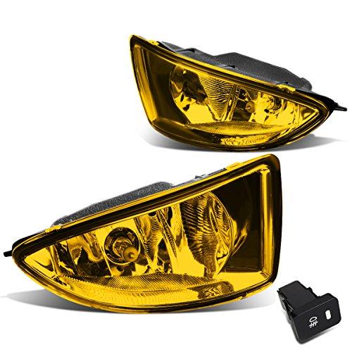 For Honda Civic 2/4-Door EM2/ES1/ES2 Pair of Bumper Driving Fog Lights + Wiring Kit + Switch (Amber Lens) ()
