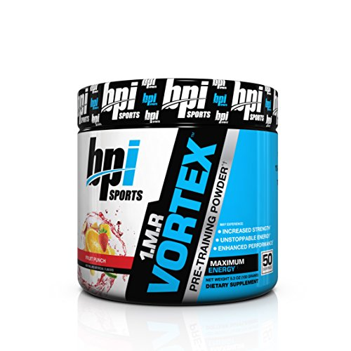 BPI Sports 1.M.R. Vortex Pre-Workout Powder, Fruit Punch, 5.3-Ounce