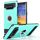 VeaYook Case for Samsung Galaxy Note 8 with kickstand Dual Layer Silicone Rubber Hybrid Durable Shockproof Bumper Protective Anti-Scratch Impact Resistant Cover (Blue)